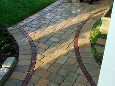 Mounting a Block or Paver Walkway – Outdoor Patio Decor Outdoor Rooms, Outdoor Living, Paver Designs, Paver Walkway, Walkways, Stone Pathways, Garden Pavers, Outdoor Patio Designs, Patio Layout