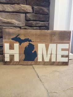 Hey, I found this really awesome Etsy listing at https://www.etsy.com/listing/219287048/18-x-925-wood-michigan-sign