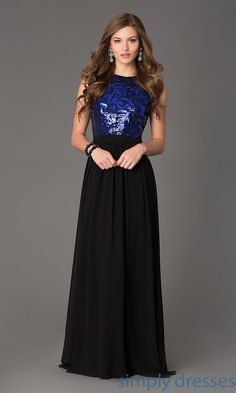 a2cc20db14bb Dresses, Formal, Prom Dresses, Evening Wear: Sleeveless Open Back Floor  Length Gown