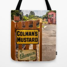 Old Signs Tote Bag by Adrian Evans - $22.00