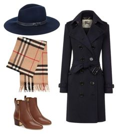 """""""Winter Fedora"""" by katharine-hagan on Polyvore featuring rag & bone, Marc Fisher LTD and Burberry"""