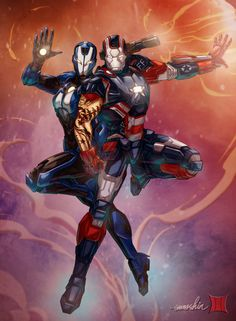 Iron Patriot and Rescue by  Brahma Bone EMMSHiN