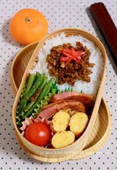Japanese Bento Box Lunch お弁当 This is a good idea for big kids & adults
