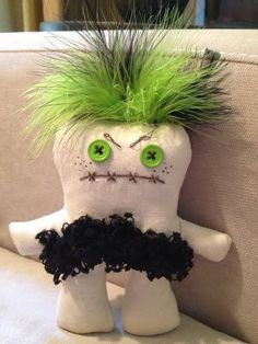 """Special order """"uglier"""" Ugg Lee doll...happy on one side, grumpy on the other."""