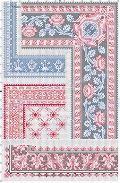 Gallery.ru / Фото #9 - Kreuzstich-Muster Fur Leinenstickerei - gabbach Cross Stitch Borders, Cross Stitching, Cross Stitch Embroidery, Hand Embroidery, Cross Stitch Patterns, Embroidery Patterns Free, Knitting Patterns Free, Embroidery Designs, Crochet Patterns