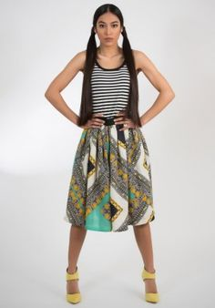 Skirt - cotton/print BUY IT NOW ON www.dezzy.it!