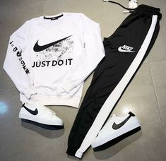 Nike Sweatsuit for Sale in Los Angeles, CA - OfferUp Cute Nike Outfits, Dope Outfits For Guys, Swag Outfits Men, Cute Lazy Outfits, Tomboy Outfits, Teen Fashion Outfits, Teenager Outfits, Mode Outfits, Trendy Outfits
