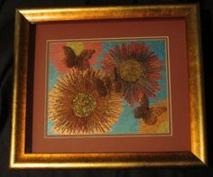 FRAMED SAMPLE FOR SALE $150.00  Butterflies 2