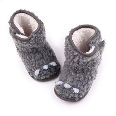 2017 New arrivl Baby Boys Girls Little Monster Flock Boots Shoes Kids Soft Bottom Anti-slip Crib Snow Shoes #Affiliate