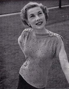 1940s knitting pattern                                                                                                                                                      More