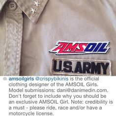 ReGram from one of our favorite wardrobing clients ➳ @amsoilgirls @amsoilinc ❤ check 'em out and follow along :) // follow crispybikinis on #Instagram instagram.com/crispybikinis | #crispybikinis #fashion #style #amsoil #girls #model #models #wardrobe #wardrobing #military #army