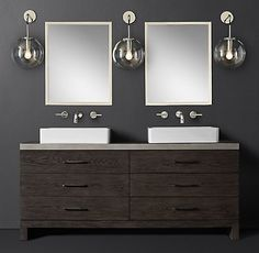 Meade Vessel Vanity Bath Collection | RH Modern