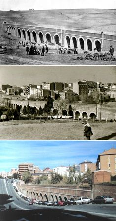 Acueducto de Amaniel -  sobre 1856, 1956 y 2014. Foto Madrid, Most Beautiful Cities, Malaga, Photos, Pictures, Spain, World, City, Awesome