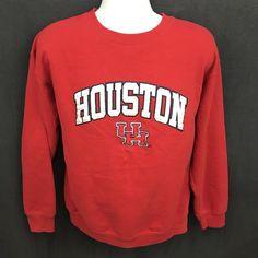 804e727e766 Vintage 90 s University of Houston Cougars 1990 s Crewneck Sweatshirt (L)  Bin RR