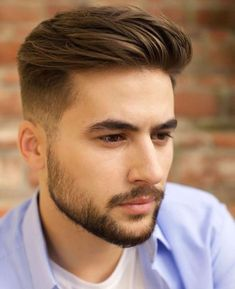 Ideas Hairstyles For Men Short Beard Styles You are in the right place about mens hairstyles 2020 Here … Trendy Mens Hairstyles, Mens Hairstyles With Beard, Hair And Beard Styles, Hairstyles Haircuts, Curly Hair Styles, Hair Style For Men, Short Beard Styles, Teenage Boy Hairstyles, Cute Boy Hairstyles
