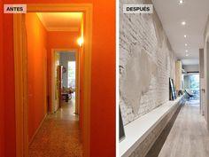 Antes y después del pasillo