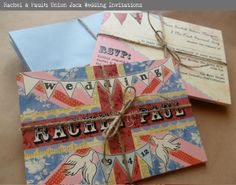 Bunting and florals and birds - ALL THE BEST THINGS IN ONE INVITE!