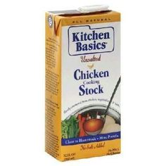 When a recipe calls for broth, try Kitchen Basics Unsalted Cooking Stock (available in beef and chicken varieties). Each cup has 150 to 180 milligrams of sodium -- one-fifth that of some other major brands. Low Sodium Recipes, Natural Kitchen, Dash Diet, Rice Dishes, Food Allergies, Saturated Fat, Organic Recipes, Gourmet Recipes, Safe Food