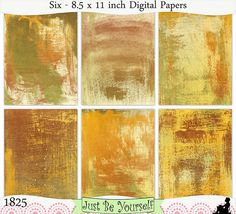 Instant Download Distressed Green and Gold by JustBYourself, $3.00