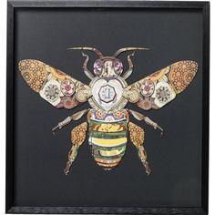 Picture Frame Art Bee 60x60cm - KARE Design