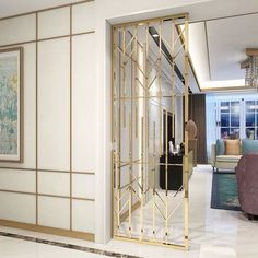 #interiordesign #metalscreen #partitions #metal House Design, Wall Partition Design, Interior Design, Stainless Steel Flat Bar, Luxury Homes Interior, Stainless Steel Screen, Home Entrance Decor, Condo Design, Stainless Steel Art