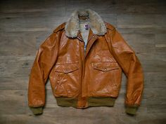 In the shop now, rare vintage Schott G-1 bomber/ flight jacket.  Awesome!