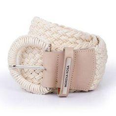 eebea10087 Cinto Cintura Quadril Regular Tresse Off White - morenarosa