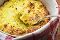 Corn Spoonbread With Goat Cheese and Chives @washingtonpost