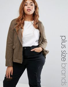 Buy it now. Missguided Plus Size Faux Suede Biker Jacket - Green. Plus size coat by Missguided, Bonded faux-suede, Fully lined, Studded lapel, Asymmetric zip fastening, Functional pockets, Belted hem, Regular fit - true to size, Machine wash, 100% Polyester, Our model wears a UK 16/EU 44/US 12 and is 175cm/5'9 tall. ABOUT MISSGUIDED PLUS With an eye on the catwalks and hottest gals around, Missguided's in-house team design for the dreamers, believers and night lovers. Taking the risks no one…