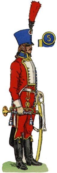 Trompette, 5e Hussards, 1807