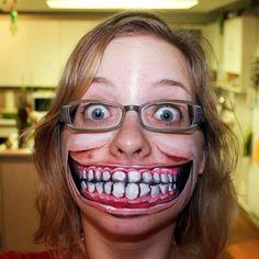Top 50 des maquillages Halloween les plus flippants, maman j'ai peur Creepy Halloween Makeup, Halloween Make Up, Costume Halloween, Halloween Ideas, Halloween Face, Pretty Halloween, Scary Costumes, Halloween Halloween, Pumpkin Face