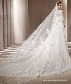 2013 Long Sleeve Lace Wedding Dress Bridal Gown_2