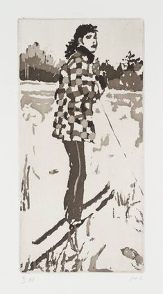 Peter Doig, (no title), 1997, etching on paper, 19.7x19.9cm