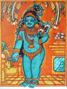Young Krishna (Reprint on Paper - Unframed))