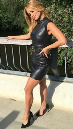 Black leather bodycon dress - Black leather bodycon dress Source by - Leather Bodycon Dress, Leather Mini Dress, Black Leather Dresses, Black Bodycon Dress, Leather Skirt Outfits, Dress Black, Sexy Outfits, Sexy Dresses, Sexy Rock
