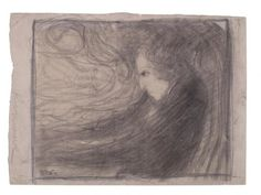Expressive drawing: Chopin at the piano by Wojciech Weiss. Exhibit from the Chopin Museum, Warsaw.