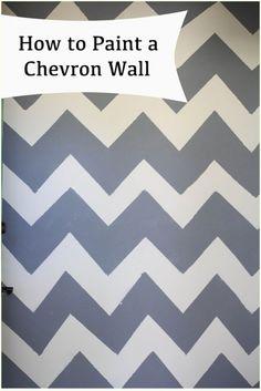 how to paint a chevron wall  chevron wall tutorial #diy