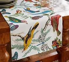 2015 Print & Pattern trends:  fauna print, table runner | home decor