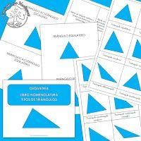 Aprendo los ángulos + Tarjetas y Libro Nomenclatura de los tipos de ángulos y triángulos para imprimir