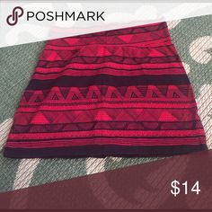 American Apparel Mini Skirt Red and black American Apparel mini skirt. Very short. Cotton material. American Apparel Skirts Mini