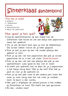 * Sinterklaas ganzenbord! Spelregels! 2-4 Family Games, Games For Kids, Diy For Kids, Father Christmas, Kids Christmas, St Nicholas Day, Stage, Speech Language Therapy, Lets Do It