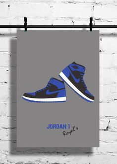 6dadcdcdb53e47 Nike Air Jordan 1 Royal Poster 1985 by SneakerheadArtwork Air Jordan 1  Shadow