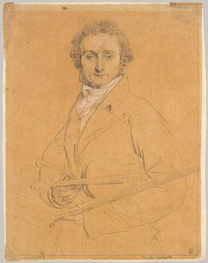 Niccolo Paganini by Jean Auguste Dominique Ingres. Was sad to learn my favorite composer's portrait was locked away during Louvre renovations. Paganini's violin also eluded me; it had left Italy during my only week there.