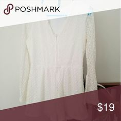 White lace romper Used once for an hour H&M Dresses