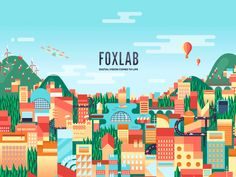 This is a loop of the animation I did for the homepage of Foxlab Agency's new website. Hope you'll like it !