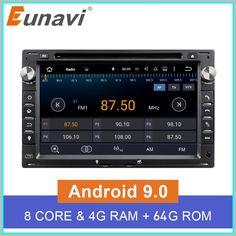 Sale Eunavi Octa Core 4GB RAM 2 din Android 9.0 7'' Car DVD GPS Navi For VW Glof Bora Passat Mk5 Golf Mk4 Polo Jetta Seat 2020 Cheap Car Audio, Navi, Audio Player, Android 9, Top Cars, Boruto, Multimedia, Golf, Turtleneck