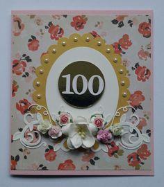 100-vuotiaalle syntymäpäiväkortti