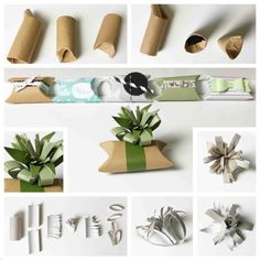 Geschenkverpackung  aus Klopapierrollen (Paper roll) #howto #upcycling #recycling #wrapping