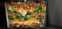 Try this perfect, traditional Seven layer Salad with one slight twist to make it even better. Seven Layer Salad Dressing recipe is included! Seven Layer Salad Dressing Recipe, Kos, Hawaiian Dishes, Curry Noodles, Healthy Salad Recipes, Eating Plans, High Tea, Diy Food, Pasta Dishes