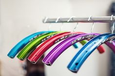 Hangers made out of bike rims!